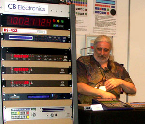 Colin at the AES in Paris (27K)